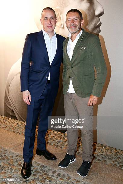 Dan Peres and Tomas Maier attend DETAILS Magazine Cocktail Party on June 20, 2015 in Milan, Italy.