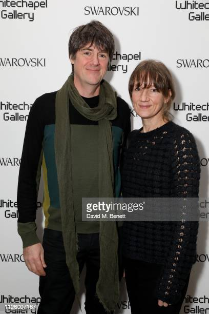 Dan Perfect and Fiona Rae attend a glamorous gala dinner at Whitechapel Gallery as Rachel Whiteread is celebrated as the recipient of the Whitechapel...