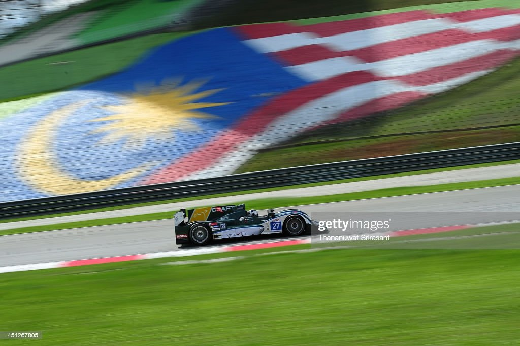 Dan Polley of Ireland and Richard Bradley of Great Britain dives the #27 Craft Racing Oreca 03 during the Asian Lemans Series on December 8, 2013 in Sepang, Selangor, Malaysia.