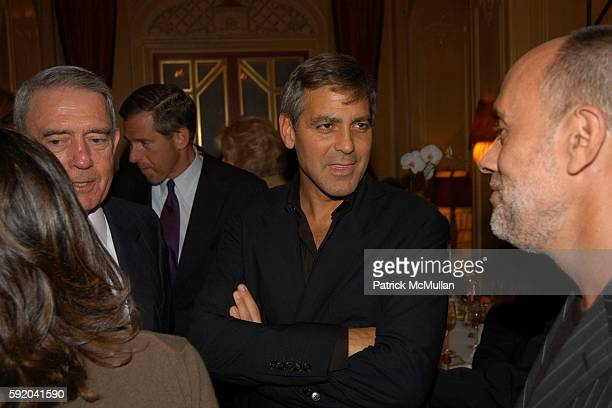 Dan Rather and George Clooney attend Walter Cronkite Hosts a Private Screening of Warner Independent Pictures' Good Night And Good Luck Directed by...
