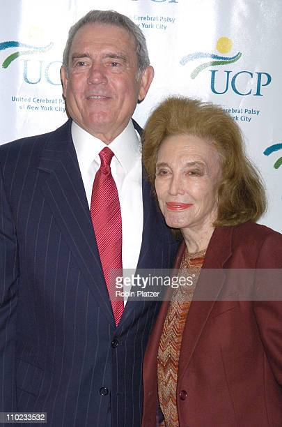 """Dan Rather and Helen Gurley Brown during United Cerebral Palsy Fourth Annual """"Women Who Care"""" Luncheon at Ciprianis 42nd Street in New York City, New..."""