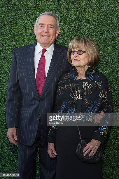 Dan Rather and his wife Jean Goebel arrive at the Texas Medal of Arts Awards at the Long Center on February 25 2015 in Austin Texas