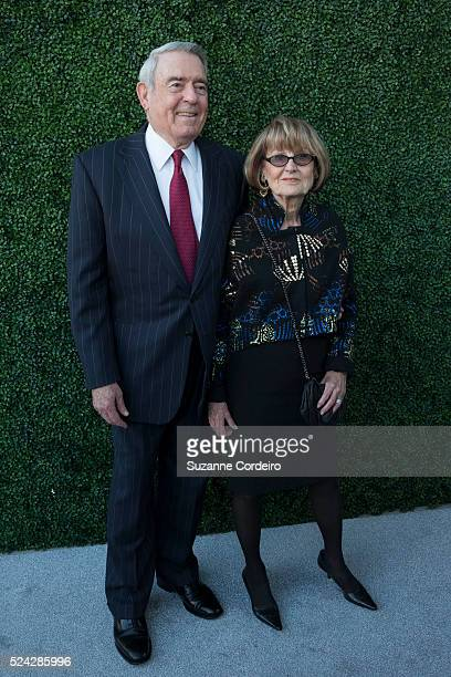 Dan Rather and his wife Jean Goebel pose on the red carpet at the Texas Medal of Arts Awards on Wednesday February 25 at the Long Center in Austin...