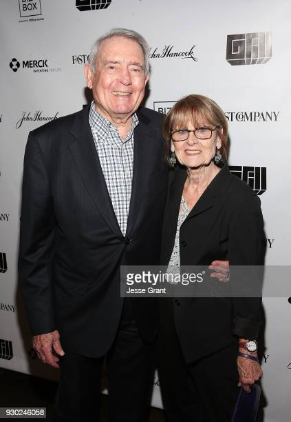 Dan Rather and Jean Goebel attend the 8th annual Fast Company Grill during SXSW on March 10 2018 in Austin Texas
