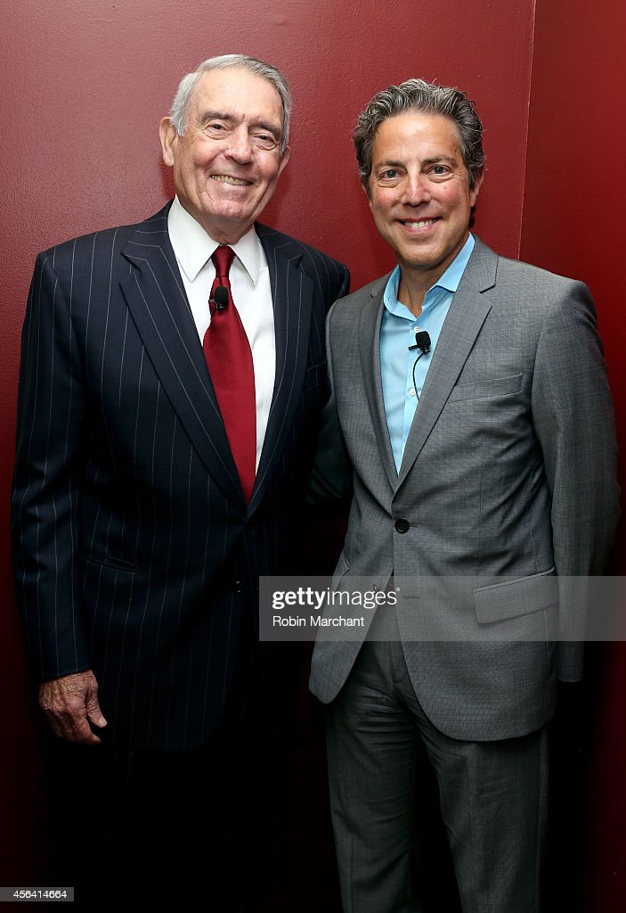 Dan Rather (L) and Roy Sekoff attend The Newsmen: Changing Dynamics of Media, Tech, and Journalism panel during AWXI on September 30, 2014 in New York City.