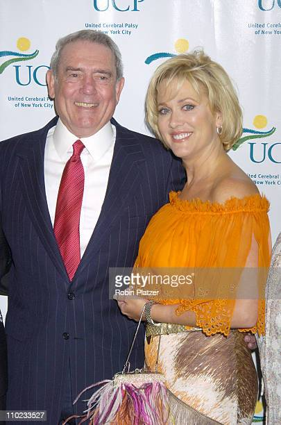 Dan Rather and Tonja Walker during United Cerebral Palsy Fourth Annual 'Women Who Care' Luncheon at Ciprianis 42nd Street in New York City New York...
