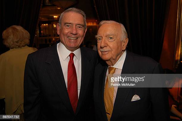 Dan Rather and Walter Cronkite attend Walter Cronkite Hosts a Private Screening of Warner Independent Pictures' Good Night And Good Luck Directed by...