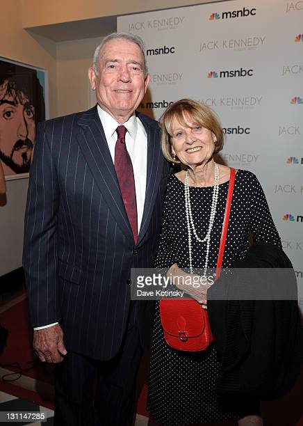 Dan Rather and wife Jean Goebel attend the book release party of Jack Kennedy Elusive Here at the Gramercy Park Hotel on November 1 2011 in New York...