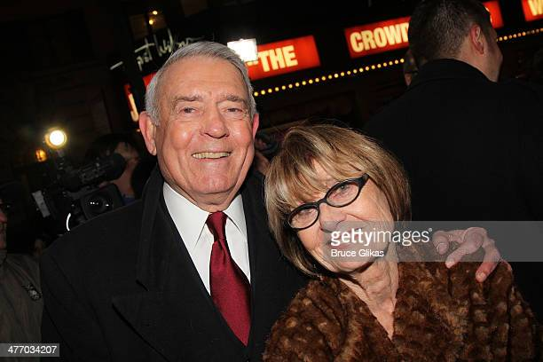 Dan Rather and wife Jean Goebel attend the opening night of All The Way on Broadway at The Neil Simon Theatre on March 6 2014 in New York City