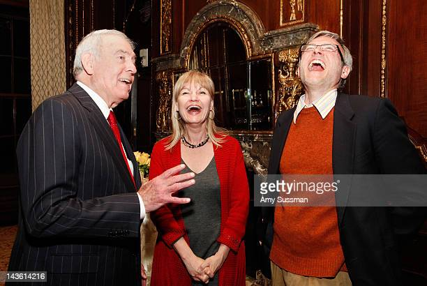 Dan Rather Donna Dees and Bill Madison attend the book launch for Dan Rather's Rather Outspoken My Life In The News at the Drawing Room at the New...