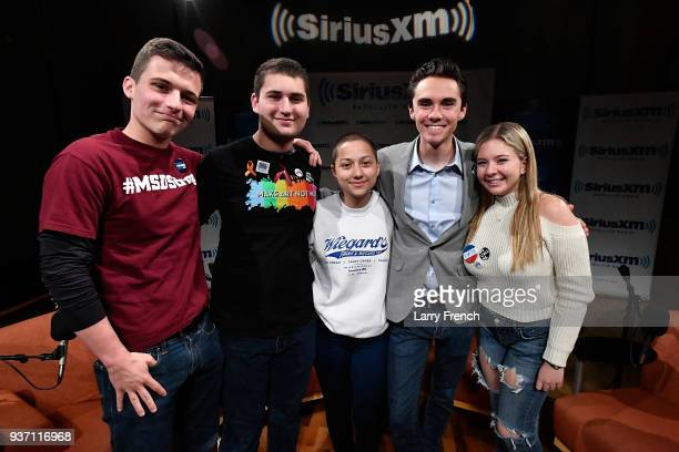 Dan Rather hosts a SiriusXM Roundtable Special Event with Parkland Florida Marjory Stoneman Douglas High School Students and activists Cameron Kasky...
