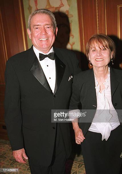 Dan Rather Jean Goebel during 2002 PEN Literary Gala at Pierre Hotel in New York New York United States