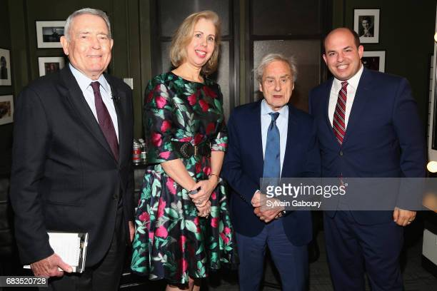 Dan Rather, Nancy Gibbs, Sir Harold Evans and Brian Stelter attend 92Y Gala at 92nd Street Y on May 15, 2017 in New York City.