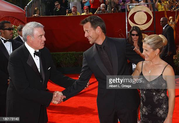 Dan Rather with James Denton and wife Erin O'Brien