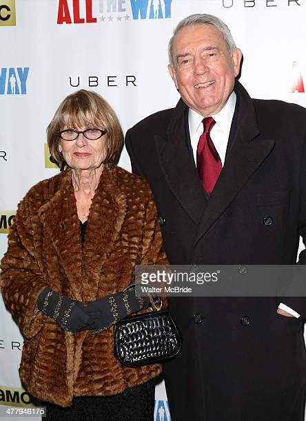 Dan Rather with Jean Goebel attend All The Way opening night at Neil Simon Theatre on March 6 2014 in New York City