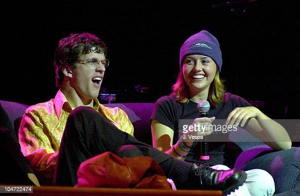 Dan Renzi and Julie Stoffer during The Real World Reunion Tour at Beacon Theatre in New York City New York United States