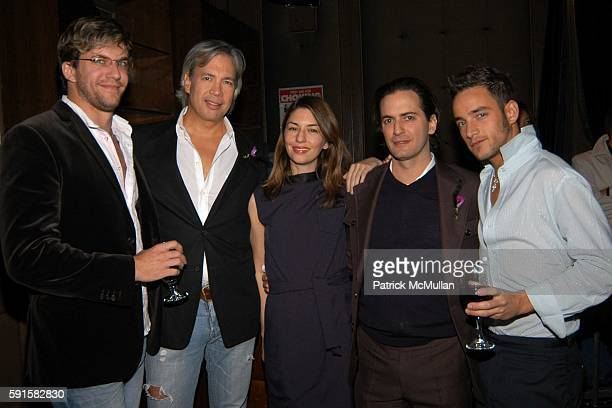 Dan Renzi Robert Duffy Sofia Coppola Marc Jacobs and Jason Preston attend Out 100 Awards at Capitale on November 11 2005 in New York City
