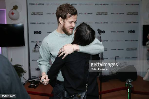 Dan Reynolds and Aja Volkman ajoin the HBO and Live Nation ProductionsÕ Believer party in Café Artois during the Sundance Film Festival in Park City...