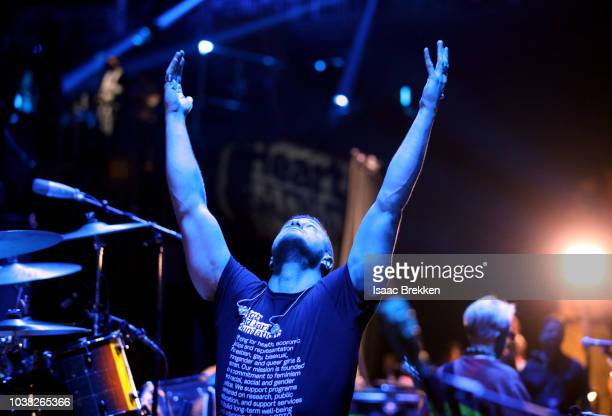 Dan Reynolds backstage during the 2018 iHeartRadio Music Festival at TMobile Arena on September 22 2018 in Las Vegas Nevada