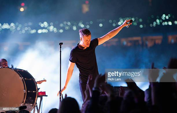 Dan Reynolds of Imagine Dragons perform during the half time of during the 102nd Grey Cup Championship Game between the Hamilton TigerCats and the...