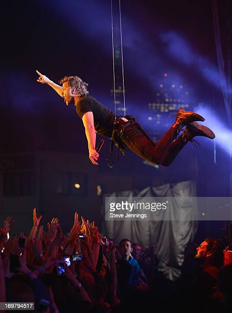 Dan Reynolds of Imagine Dragons performs at America's Cup Pavilion on May 31 2013 in San Francisco California