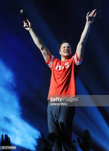 Dan Reynolds of Imagine Dragons performs at the Amway Center on November 10 2017 in Orlando Florida