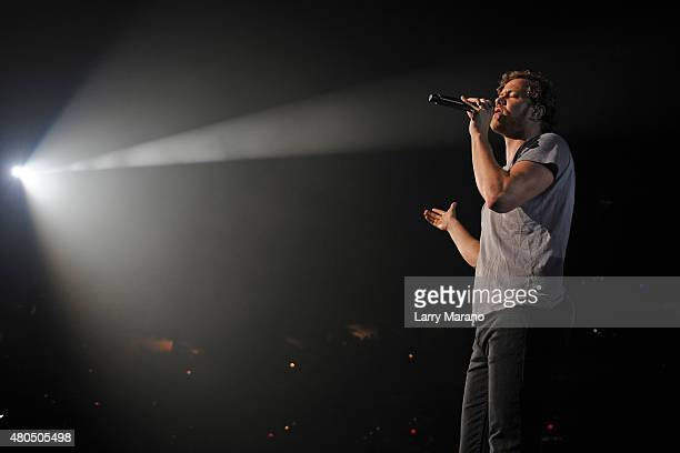 Dan Reynolds of Imagine Dragons Performs at the BBT Center on July 11 2015 in Sunrise Florida