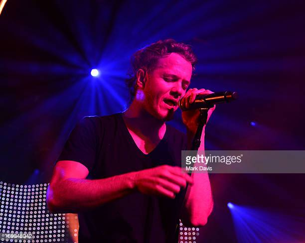 Dan Reynolds of Imagine Dragons performs at the Hollywood Palladium on May 29 2013 in Hollywood California