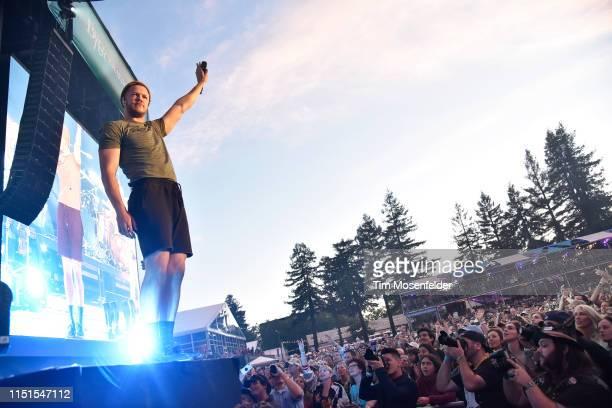 Dan Reynolds of Imagine Dragons performs during BottleRock Napa Valley 2019 at Napa Valley Expo on May 24 2019 in Napa California