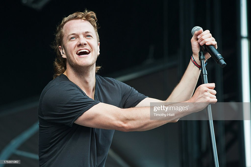 Dan Reynolds of Imagine Dragons performs during Lollapalooza 2013 at Grant Park on August 2, 2013 in Chicago, Illinois.