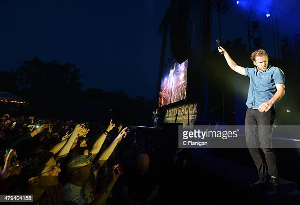 Dan Reynolds of Imagine Dragons performs during the 2015 Bottle Rock Napa Valley Music Festival at Napa Valley Expo on May 29 2015 in Napa California