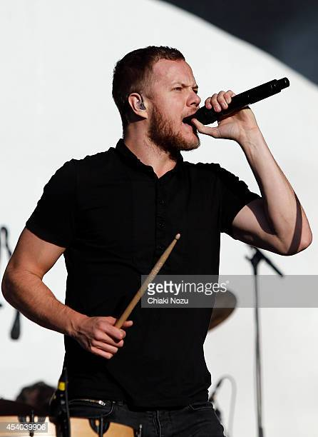 Dan Reynolds of Imagine Dragons performs on Day 2 of the Reading Festival at Richfield Avenue on August 23 2014 in Reading England