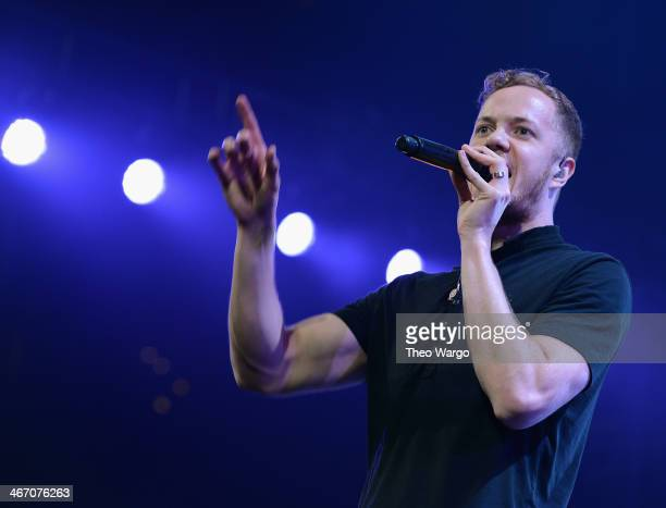 Dan Reynolds of Imagine Dragons performs onstage at the Amnesty International Concert presented by the CBGB Festival at Barclays Center on February 5...