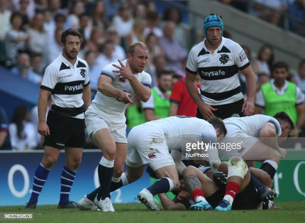 Dan Robson of England during Quilter Cup match between England against Barbarians at Twickenham stadium London on 27 May 2018