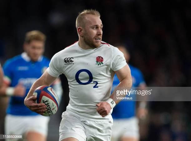 Dan Robson of England during the Guinness Six Nations match between England and Italy at Twickenham Stadium on March 09 2019 in London England