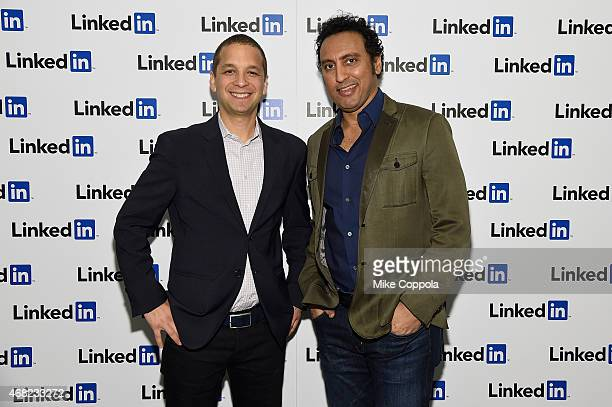 Dan Roth LinkedIn Executive Editor and Aasif Mandvi attend LinkedIn Discussion Series Executive Editor Dan Roth Interviews The Daily Show's Aasif...