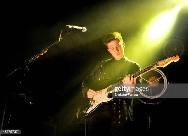 Dan Rothman of London Grammar performs a sold out show at Manchester Academy on January 29 2014 in Manchester England