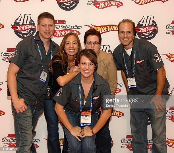 Dan Salazar Michele Sturdivant Lauren Bennett Sarah Ingram and Wes Robinson arrive at the Hot Wheels 40th Anniversary Kick Off at SEMA 2007 at The...
