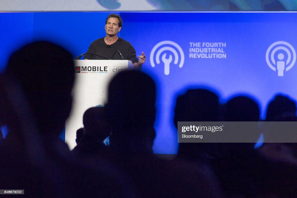 Dan Schulman, president and chief executive officer of PayPal Inc., speaks during the Mobile World Conference Americas event in San Francisco, California, U.S., on Wednesday, Sept. 13, 2017. Leaders from the mobile ecosystem will be presenting the challenges and opportunities in the industry and the impact it has on society. Photographer: David Paul Morris/Bloomberg via Getty Images