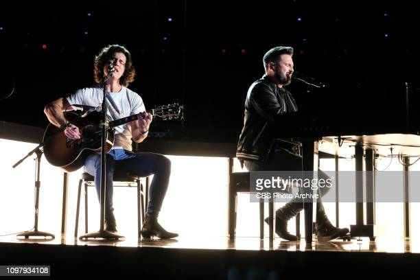Dan Shay perform during rehearsal at THE 61ST ANNUAL GRAMMY AWARDS broadcast live from the STAPLES Center in Los Angeles Sunday Feb 10 on the CBS...