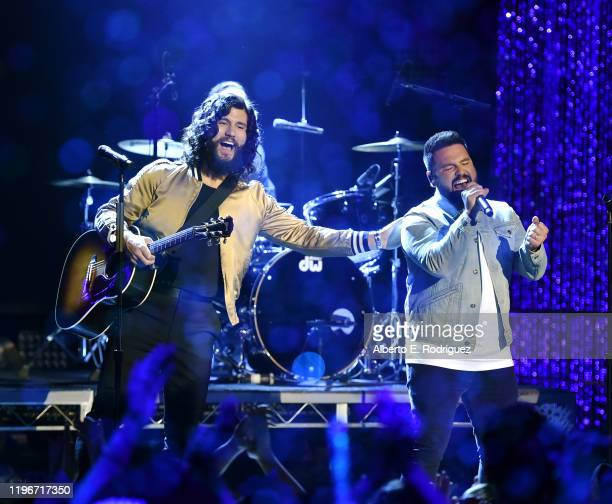 Dan Shay perform onstage during Dick Clark's New Year's Rockin' Eve with Ryan Seacrest 2020 Hollywood Party on November 23 2019 in Los Angeles...