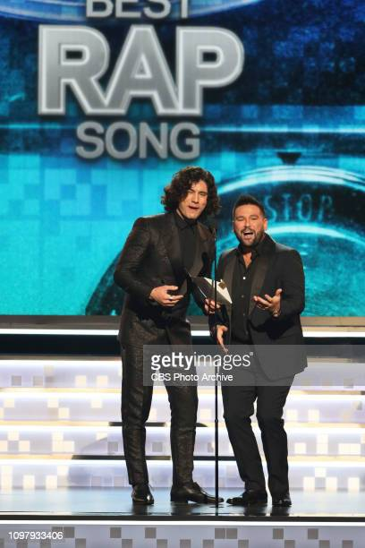 Dan Shay present at THE 61ST ANNUAL GRAMMY AWARDS broadcast live from the STAPLES Center in Los Angeles Sunday Feb 10 on the CBS Television Network