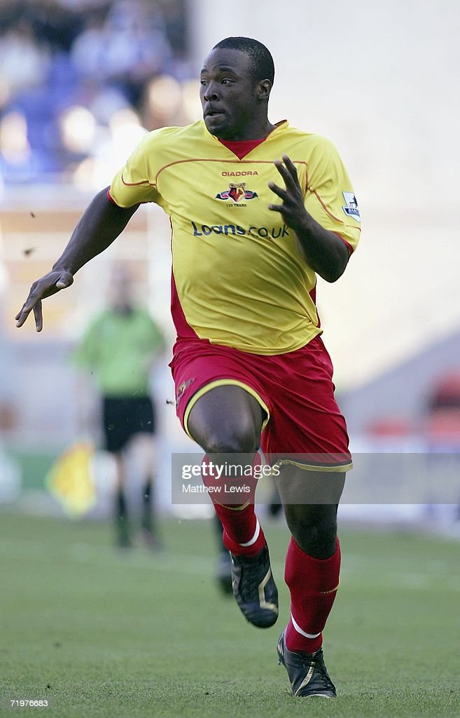 Dan Shittu of Watford in action during the Barclays Premiership match between Wigan Athletic and Watford at the JJB Stadium on September 23, 2006 in Wigan, England.