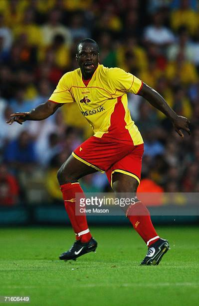 Dan Shittu of Watford in action during the friendly match between Watford and Inter Milan at Vicarage Road on August 8 in Watford England