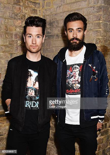 Dan Smith and Kyle Simmons of Bastille attend The Stubhub Q Awards 2016 at The Roundhouse on November 2 2016 in London England
