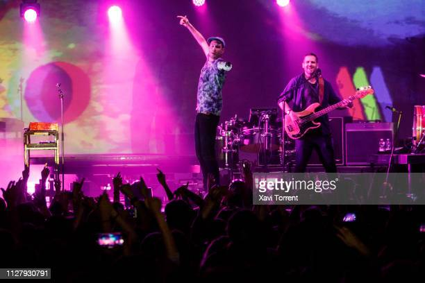 Dan Smith and Will Farquarson of Bastille perform in concert at Razzmatazz on February 27 2019 in Barcelona Spain