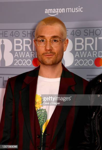 Dan Smith attends The BRIT Awards 2020 at The O2 Arena on February 18 2020 in London England