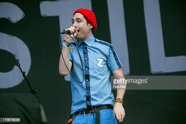 Dan Smith from Bastille performs at Day 3 of Bestival at Robin Hill Country Park on September 7 2013 in Newport Isle of Wight