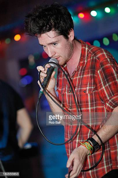 Dan Smith from Bastille performs at POP on October 26 2011 in Southampton England
