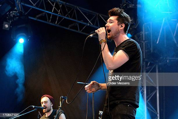 Dan Smith from Bastille performs on stage on Day 3 of Pinkpop Festival 2013 on June 16 2013 in Landgraaf Netherlands